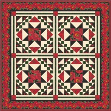 FREE Timeless Treasures Poppy Grove Mosaic Pattern