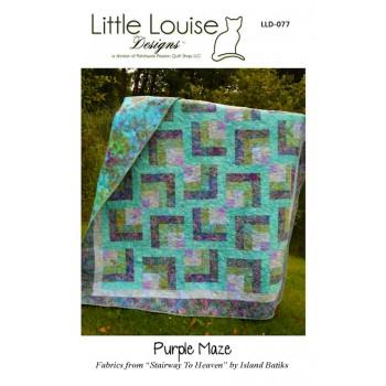 Purple Maze pattern by Little Louise Designs