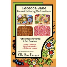 Rebecca Jane Sewing Machine Cover pattern by Villa Rosa Designs - Fat Quarter Friendly Pattern