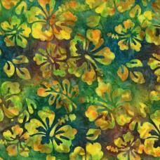 BOLT END - Michael Miller Batik BT8511-CITR - Yellow & Green Hibiscus