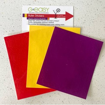 GE Designs Ruler Stickers in Fiesta colors - a G Easy tool