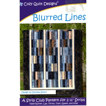 Blurred Lines pattern by Cozy Quilt Designs - Jelly Roll Friendly