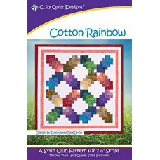 Cotton Rainbow pattern by Cozy Quilt Designs - Jelly Roll Friendly