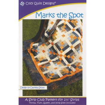 Marks the Spot pattern by Cozy Quilt Designs - Jelly Roll Friendly