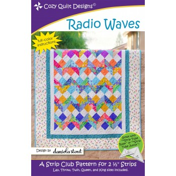Radio Waves pattern by Cozy Quilt Designs - Jelly Roll Friendly