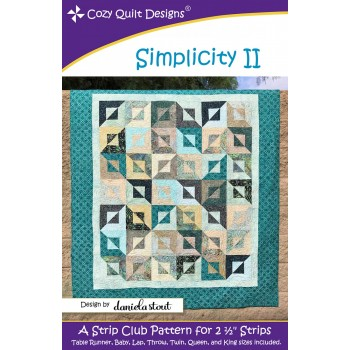 Simplicity II pattern by Cozy Quilt Designs - Jelly Roll Friendly