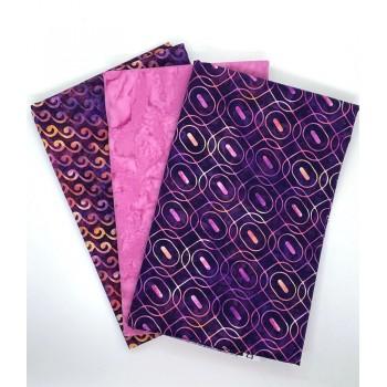 Three Yard Mixed Bundle - Two Yards QT Digital & One Yard Batik - Pink Tones - 3YD184-D - 3 Yds