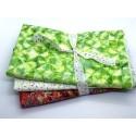 Three Yard Mixed Bundle - Two Yards QT Digital & One Yard Batik - Pink Lime & White Tones - 3YD186-D - 3 Yds