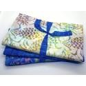 Three Yard Mixed Bundle - One Yard QT Digital & Two Yards Batik - Turquoise & WhiteTones - 3YD199-D - 3 Yds