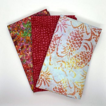 Three Yard Mixed Bundle - One Yard QT Digital & Two Yards Batik - Red & Pink Tones - 3YD194-D - 3 Yds