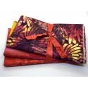 Three Yard Mixed Bundle - One Yard QT Digital & Two Yards Batik - Red Yellow Coral Tones - 3YD185-D - 3 Yds