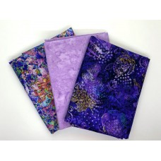 Half Yard Mixed Bundle HY397-D - Purple Tones - 1.5 Yards Total