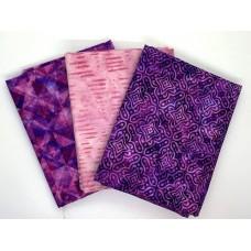 Half Yard Mixed Bundle HY394-D - Pink & Purple Tones - 1.5 Yards Total