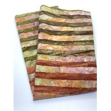 BOLT END - Michael Miller Batik BT9191 - CRML Caramel Stripes - 30 Inches