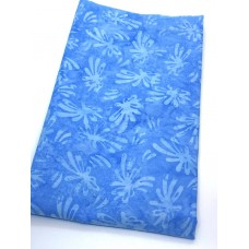 BOLT END - Benartex Batik 09152-84 Light Turquoise Splash = 2/3 yd