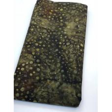 BOLT END - Robert Kaufman AMD-16849-169 - Green Bubbles on Dark Brown -3/4 yd