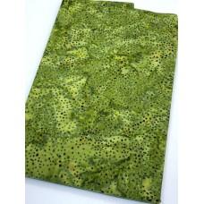 BOLT END - Island Batik 121933656 - Green Dots - 1 yd