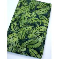 BOLT END - Island Batik 121922636 Green Feathers 42 Inches