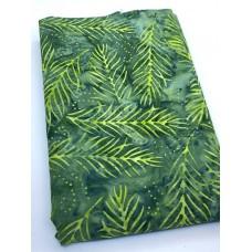 BOLT END - Wilmington Batavian Batik 22191-779 Lime Fronds on Green - 43 Inches