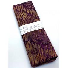REMNANT - Majestic Batik Irish Cream 821 - Brown Ferns on Maroon - 15 Inches x WOF