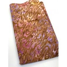 BOLT END - Wilmington Batavian Batik 22252-839 - Purple Pink Swirls on Copper - 31 Inches