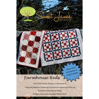 Farmhouse Reds pattern by Sweet Jane's  - Charm, Fat Quarter & Scrap Friendly!