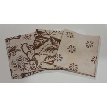 Three Batik Textiles Batik Fat Quarters 339A - Tan/Brown Tones
