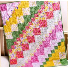Square Dance Pattern by Bits 'n Pieces - uses just 8 Fat Quarters