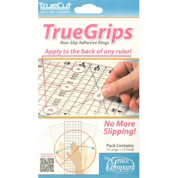 True Grips Non-Slip Adhesive Rings for Rulers
