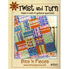 Twist and Turn Pattern by Bits 'n Pieces - uses just 8 Fat Quarters