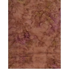 Anthology Batik 1147 Medium Mottled Green, Mauve & Tan Solid