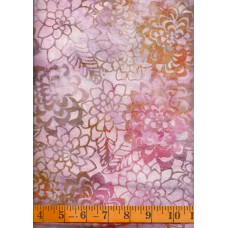 Anthology Batik 12031 - Flowers Clusters on Light Pink, Gold & Brown