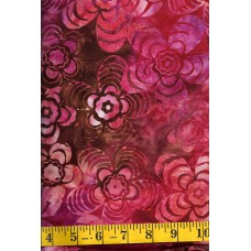 Anthology Batik 12034 - Flower Power in Pink, Orange & Brown