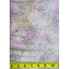 Anthology Batik 12056 - Flowers Clusters on Lavender, Gold, Gray & Green