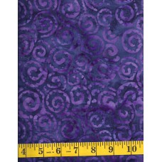 REMNANT - Anthology Batik 12532 - Purple Jagged Swirl Pattern on Dark Blue Purple