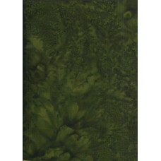 Anthology Batik 1427 Dark Green Mottled Solid