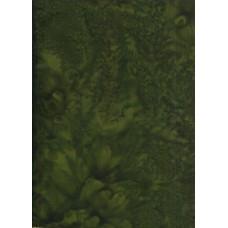 Anthology Batik 1427 Dark Green Mottled Solid