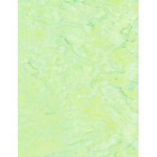 BOLT END - Anthology Batik 1429.1 Light Yellow Green Mottled Solid