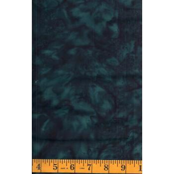 Anthology Batik 1664.1 Dark Blue Green Mottled Solid