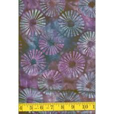 Artistic Artifacts Batik Shapes 10141113 - Purple, Blue, Green & Mauve Pinwheels