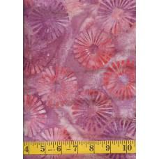 Artistic Artifacts Batik Shapes 1014115 - Purple, Orange, Mauve & Peach Pinwheels