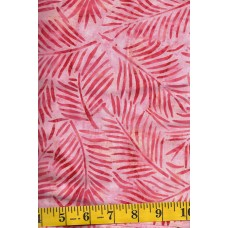 Artistic Artifacts Batik Fronds - Crimson 1014143 - Coral Fronds on a Peach Background