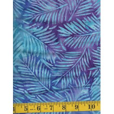 Artistic Artifacts Batik 1014144 - Turquoise Fronds on a Purple & Turquoise Background