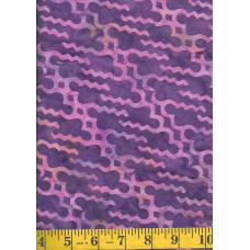 Artistic Artifacts Batik Folklife-Parang 1014412 - Pink Orange Geometric Design on Purple