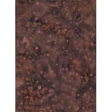Batik Textiles 1602 - Lavender Dots on a Brown & Gray Background