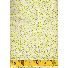Batik Textiles 3211 - Tiny Green Dots on a Cream Tan Background