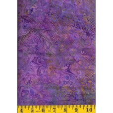 Batik Textiles 3801 Hearts, Swirls & Dots on Purple