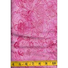 Benartex Batik 03765-22 Pink Floral Batik