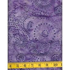Benartex Batik 03775-66 Lilac Starburst Batik