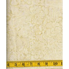 Benartex Batik - 07074-01 - Tan Flowers on Light Tan